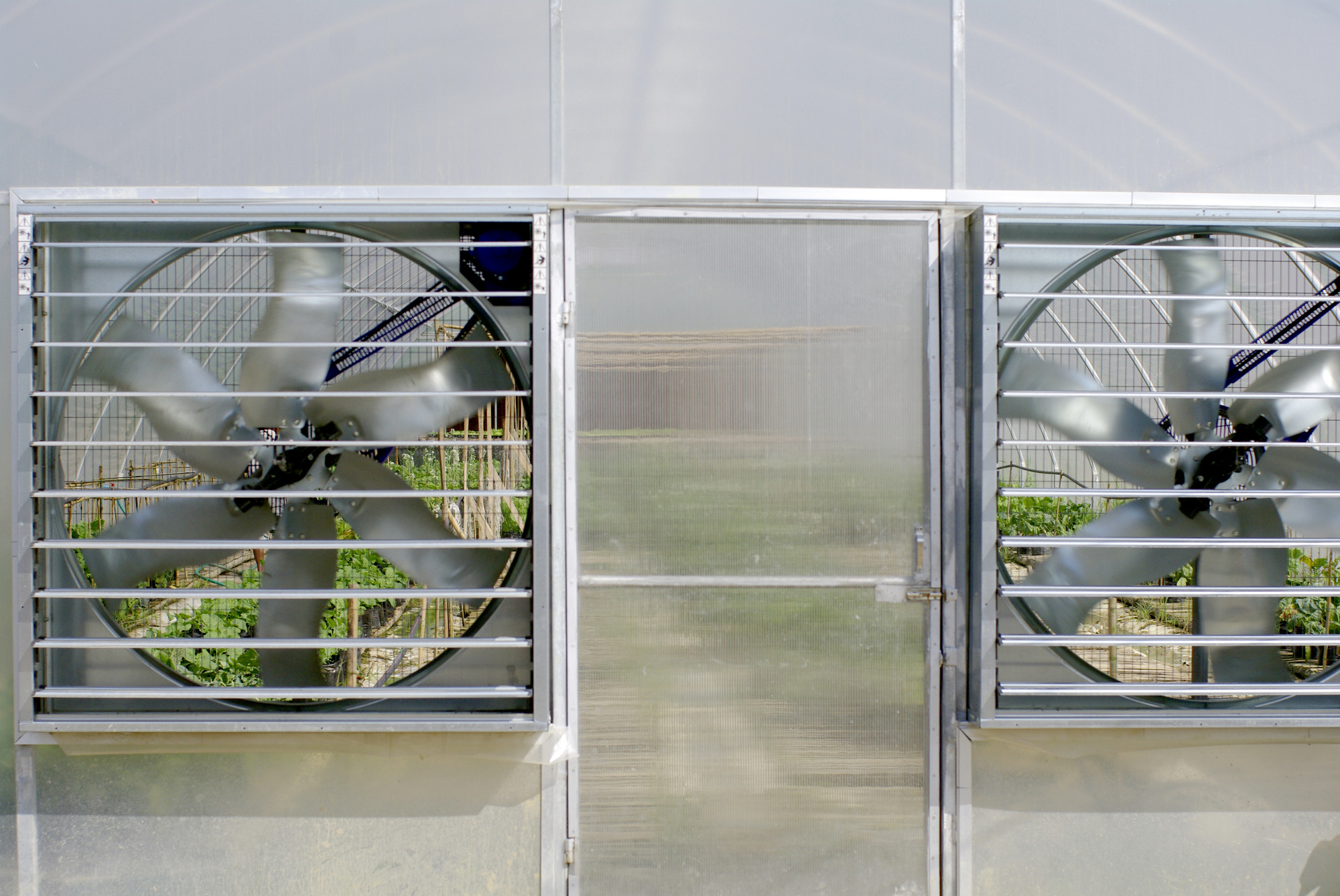 greenhouse have an exhaust fan